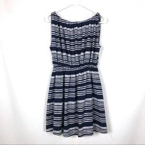 Paper Crane Striped Sleeveless Dress Blue White